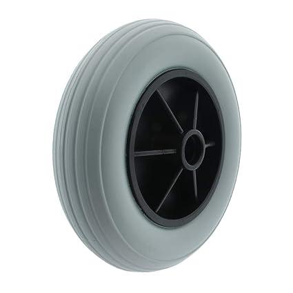 Baoblaze Neumático de Silla de Ruedas Delantero para Ancianos 8 de PU Sólida Llanta Pequeña -