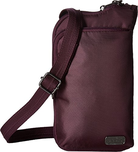 Calfskin Document - Pacsafe Women's Daysafe Anti-Theft Tech Crossbody Bag Blackberry One Size