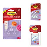 Command Party Ceiling Hooks with Banner Anchors and Mounting Strips Bundle
