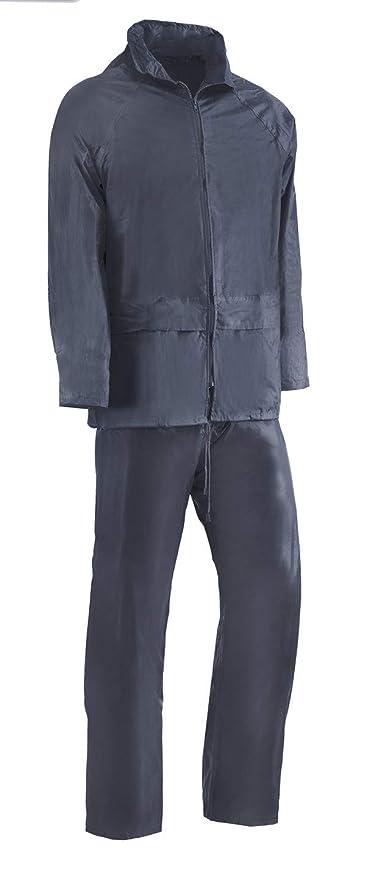 Juba - Traje agua nylon sin soporte pvc 0,18mm azul talla -l ...