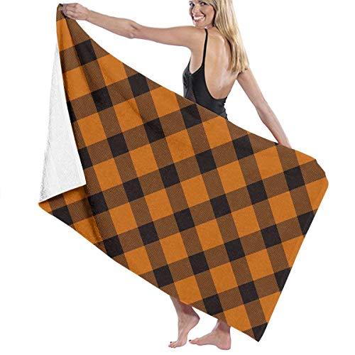 Printing Bath Towels, Eco-Friendly Bath Towel Beach Towels for Women, Bath Set Bathroom Accessories Halloween Lumberjack Tartan Plaid Pattern]()