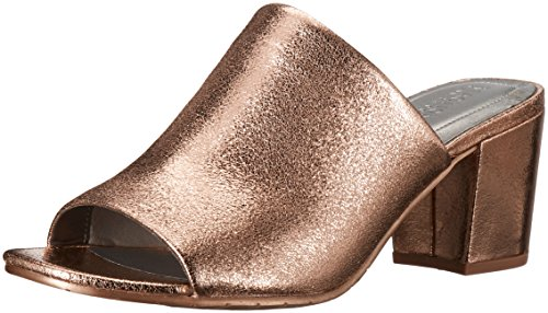 Mass Gold TER Open Mind Women's Slide Pump Cole REACTION Rose Block Heel Metallic Toe Kenneth wqRtTx