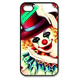 J-LV-F Customized Print Clown Pattern Back Case for iPhone 4/4S