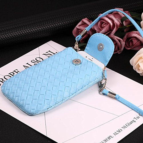Change Bifast Womens PU Leather Blue for Pouch Vintage Purse Cellphone Bag Loose Crossbody Wallet qn8rZw7xqB