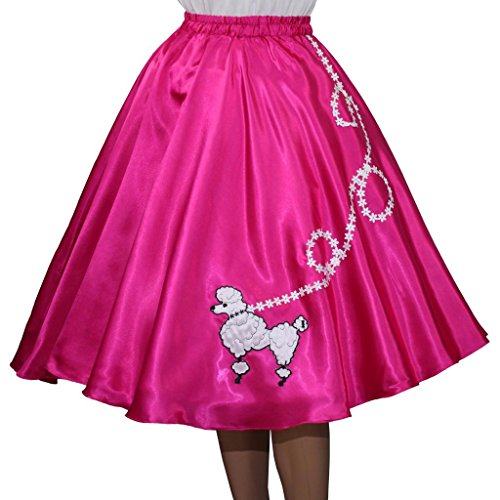 Adult Note - 3 BIG NOTES Adult Satin Poodle Skirt Size Medium (30