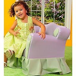 Kid\'s Princess Chair - Purple / Green by Fantasy Furniture