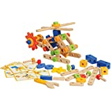 CP Toys 84 pc. Wooden Nut & Bolt Builder with Screwdriver and Activity Cards