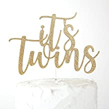 NANASUKO Baby Shower Cake Topper - it's twins - Premium quality Made in USA