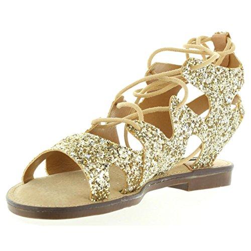 MTNG pour 53674 Glitter Plat Sandales Femme C24518 Hq4PH