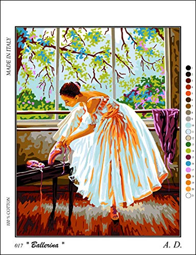 Printed Canvas cod K17XL Needlepoint Kit Ballerina 19.3x15 49x38cm