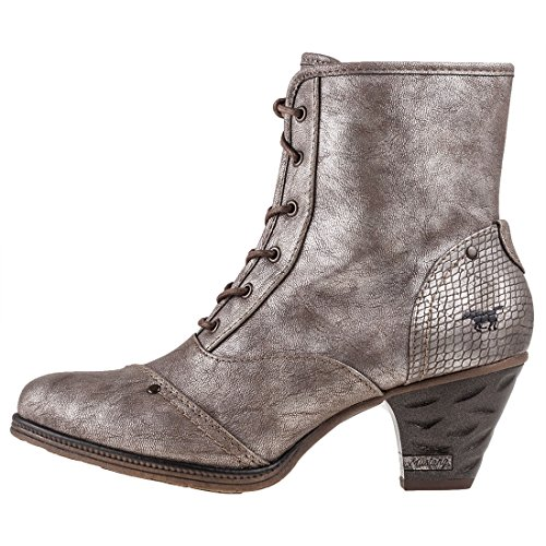 Mustang High Titan Metallic Femmes Bottines Shoe Heel UnUSqr7