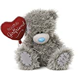 Me To You Tatty Teddy Plush -'Beautiful Girlfriend' holding Heart Balloon - 8 inch sitting