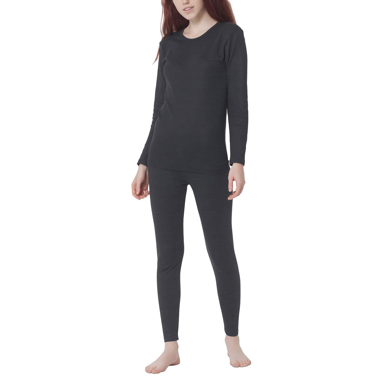 Gomati Damen Thermowäsche Unterwäsche Set - Schwarz oder Anthrazit Funktions-Wäsche-Set