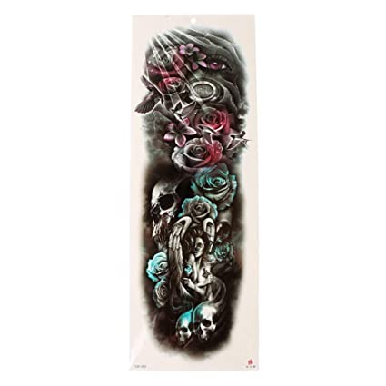 Tatuaje gran pegatina impermeable cuerpo brazo pierna manga ...