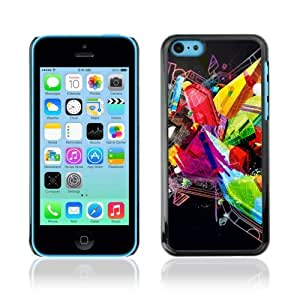 Designer Depo Hard Protection Case for Apple iPhone 5C / Abstract Colorful & Cool Design