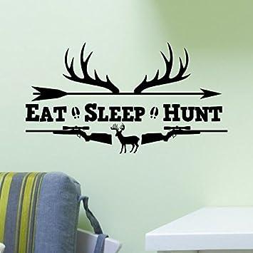 Decal HUNTER Deer Elk Bow Hunting I Love Big Racks Vinyl Sticker