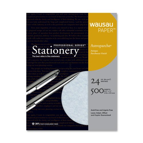 - Wausau Paper Astroparche Fine Business Paper, 500-Sheets, Blue, 8.5 x 11-Inch (26149)