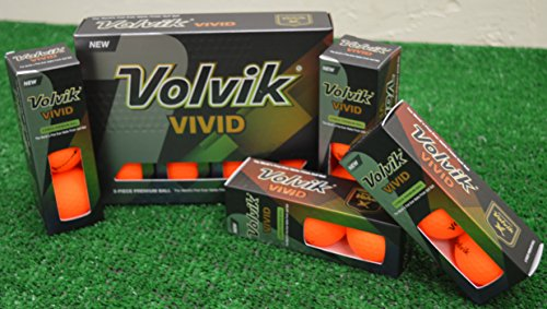 3 Dozen Volvik Vivid Matte Orange Golf Balls - New in Box by Volvik