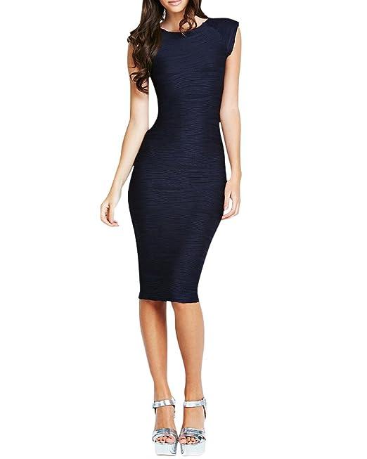 53c6f9ac6d53 SaiDeng Donna Elegante Lunghezza Al Polpaccio Vestito Senza Mancia Abito Da  Sera Party: Amazon.it: Abbigliamento