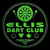 4x ccts1114-g ELLIS Dart Club Game Room Bar Beer 3D Engraved Drink Coasters