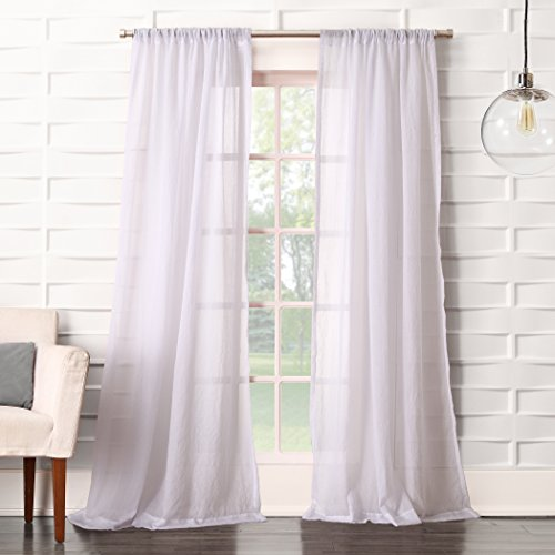 No. 918 Tayla Soft Crushed Linen Texture Rod Pocket Curtain Panel, 50