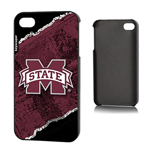 Mississippi State Bulldogs iPhone 4 & iPhone 4s Slim Case officially licensed by Mississippi State University for the Apple iPhone 4/4s by keyscaper® Sleek Light Durable Precise Rigid - Mississippi State Iphone 4 Case