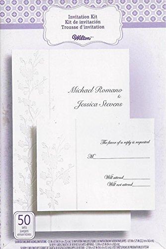 WILTON 50-Count Invitation Kit - Cherry Blossum -