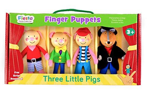 3 Little Pigs Finger Puppet Set ()