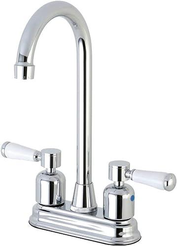 Kingston Brass FB491DPL Paris 4-Inch Center set High-Arch Bar Faucet, Polished Chrome