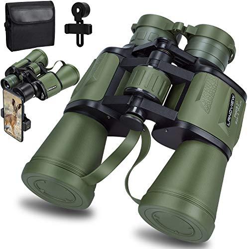 [해외]20x50 Roof Prism Binoculars for Adults HD Professional Binoculars for Bird Watching Travel Stargazing Hunting Concerts Sports-BAK4 Prism FMC Lens-with Phone Mount Strap Carrying Bag (Green) / 20x50 Roof Prism Binoculars for Adults,...