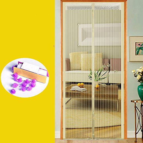 jia-jv-god The summer mosquito curtain, bedroom magnetic screen door partition household soft curtain Velcro mute door window-B-70x200cm(28x79inch)