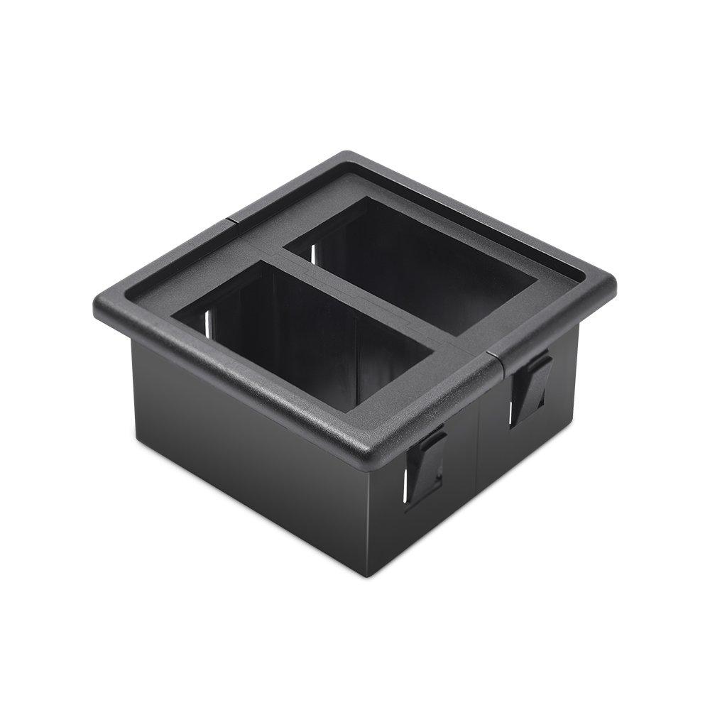Fireproof ABS Plastic Black MicTuning MH001 Rocker Switch Holder Panel Housing Kit