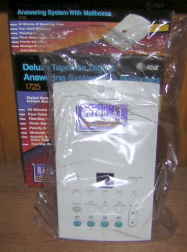 AT&T 1725 Digital Answering System with Voice Mailboxes (Dove Gray) by AT&T