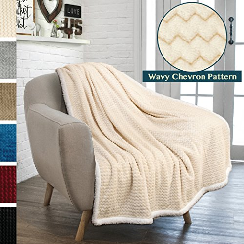 chevron sherpa throw blanket super