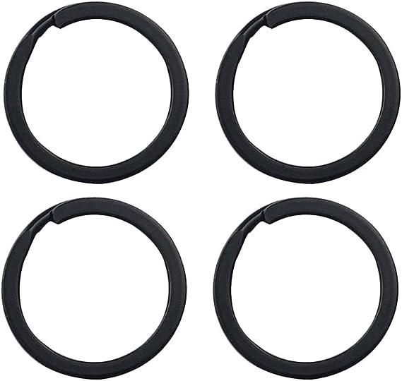 Color Negro c/írculos Toyvian 24 llaveros de Hierro