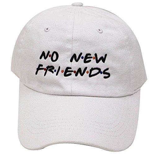City Hunter C104 No New Friends Cotton Baseball Caps - Multi Colors (White)
