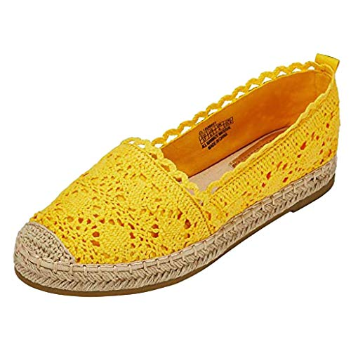 Peep Toe Wedge Jayden - JJHAEVDY Espadrille Sneakers for Women Hollow Canvas Casual Flats Classic Slip-On Comfortable Shoes for Students
