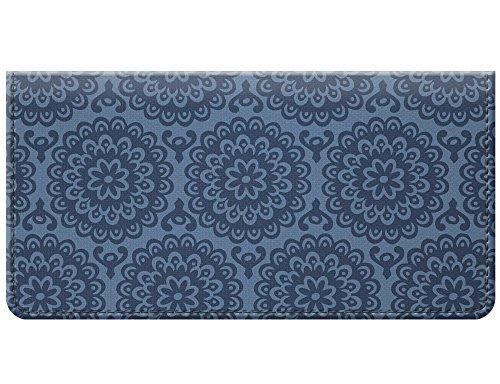 (Snaptotes Floral Denim Printed Vintage Design Checkbook Cover)