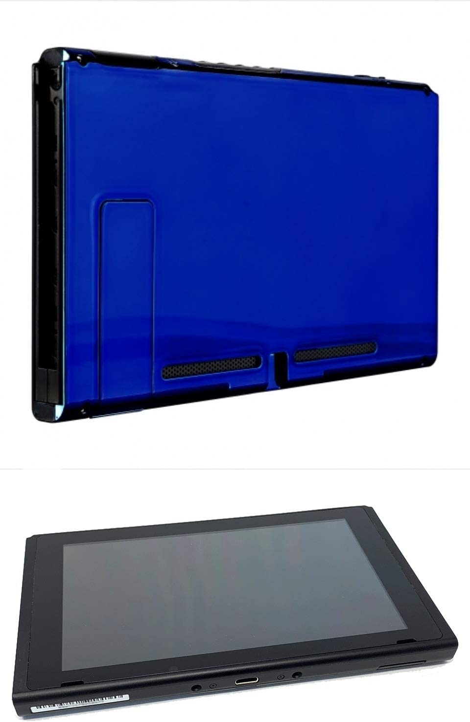 Chrome Blue Custom Console for Nintendo Switch Tablet Only