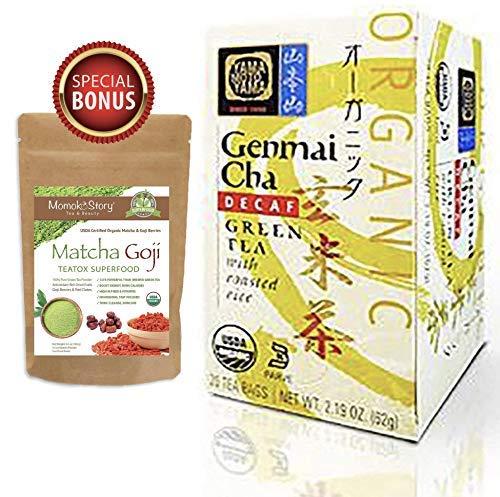 (Yamamotoyama Japanese Organic Decaf Genmaicha Tea, Traditional Roasted Brown Rice Green Tea, Tasty and Aromatic (6 Boxes, 120 Tea Bags))