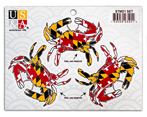 Maryland Flag Crab Sticker Small product image