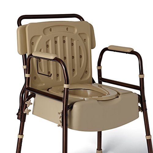 Amazon.com: Medline Elements Bedside Commode, Infused with Microban ...