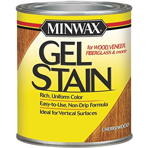 - Minwax 26070 1/2/ Pint Cherry Wood Gel Stain Interior Wood