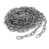uxcell Pet Training Clothes Hanging 304 Stainless Steel Coil Chain Silver Tone M2x11.5Ft