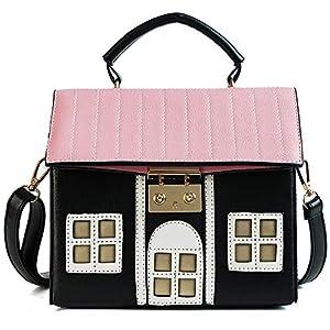 YSMYWM Women House Shaped Handbag PU Leather Shoulder Bag Crossbody Bag Messenger Bag
