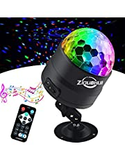 Ziduohui Party Lights Disco Ball, Color Disco Lights Sound Activated Strobe Light with USB Powered Remote Control DJ Lights for Home Room Parties, Wedding, Show, Birthday, Club, Pub, Xmas