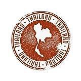 DIYthinker Thai Culture I Love Thailand Map Anti-slip Floor Pet Mat Round Bathroom Living Room Kitchen Door 80cm Gift