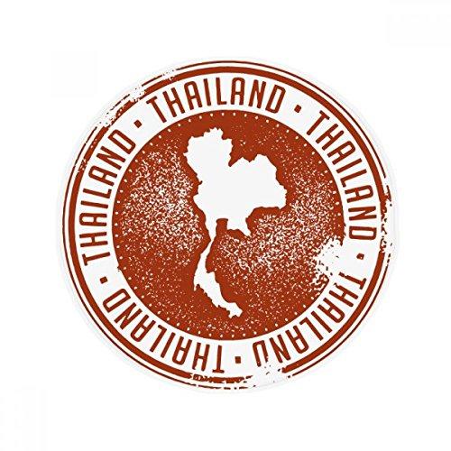 DIYthinker Thai Culture I Love Thailand Map Anti-slip Floor Pet Mat Round Bathroom Living Room Kitchen Door 80cm Gift by DIYthinker