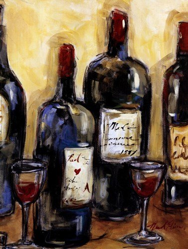 Wine Bar (Detail) by Nicole Etienne - 12x16 Inches - Art Print Poster