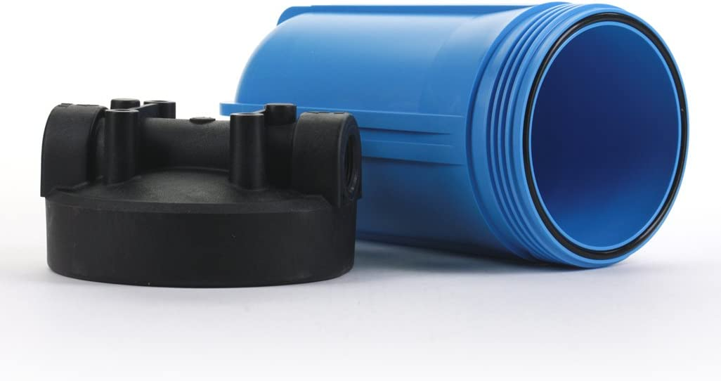 Hydronix HX-HF45-10BLBK10 Water Filter Housing NSF listed 10 Big Blue Size 1 Ports Black